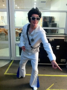 Lay gennulmen, may  I present The King. Elvis Pendlebury! That's the way it is... Principal Bassoon Alan Pendlebury during a recent performance...