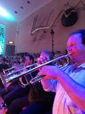The Trumpet Section Rehearsing for 'Frosty.' Brendan, Paul Marsden and Cai Isfryn