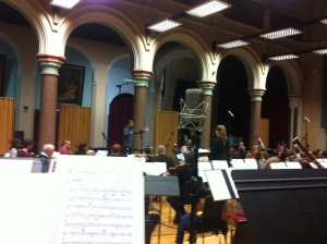 What a big microphone they've given me! David Abell conducts the RLPO & Diana Damrau for Virgin Classics.