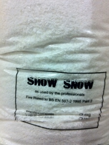 Show Snow - bags & bags of it!