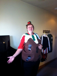 RLPO JIM CLARKE as a Xmas pudding!