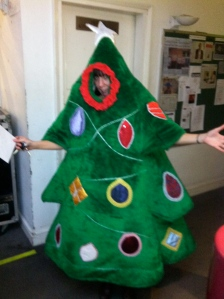 Kath Lacy as a Xmas Tree!