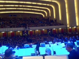The packed Liverpool Philharmonic Hall last night