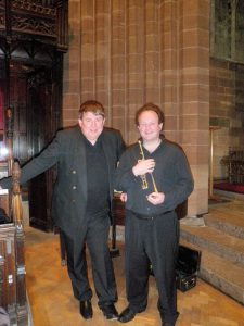 Brendan with regular Trumpet & Organ concert partner Ian Tracey