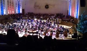 Another shot of the RLPO/John Wilson New Year's Eve Jazz concert - even the choir stalls are sold! Photo by Dave Wilson