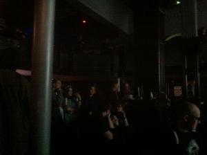 The packed auditorium