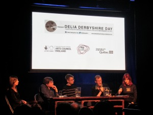 The panel of distinguised Delia Derbyshire experts, chaired by journalist Kat Aubergine
