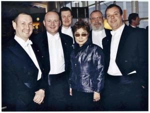 RLPO brass ensemble with Yoko Ono