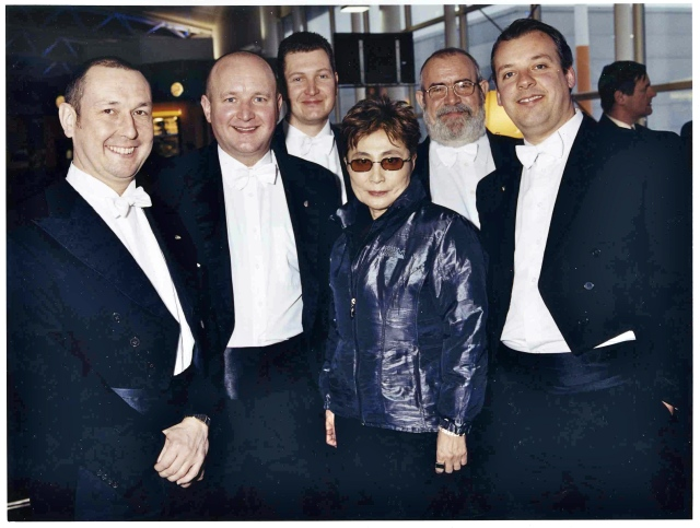 RLPO brass ensemble with Yoko Ono
