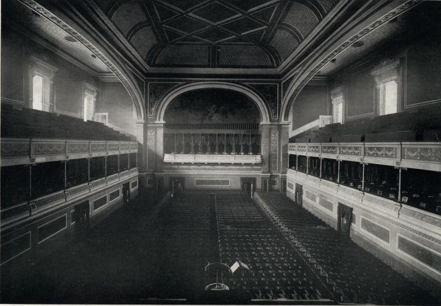 The interior of the original Liverpool Philharmonic Hall - taken circa 1930