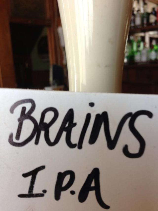 Brains beer in The Grade 2 listed Belvedere, Liverpool
