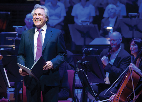 John Suchet presenting the Spirit of Christmas series