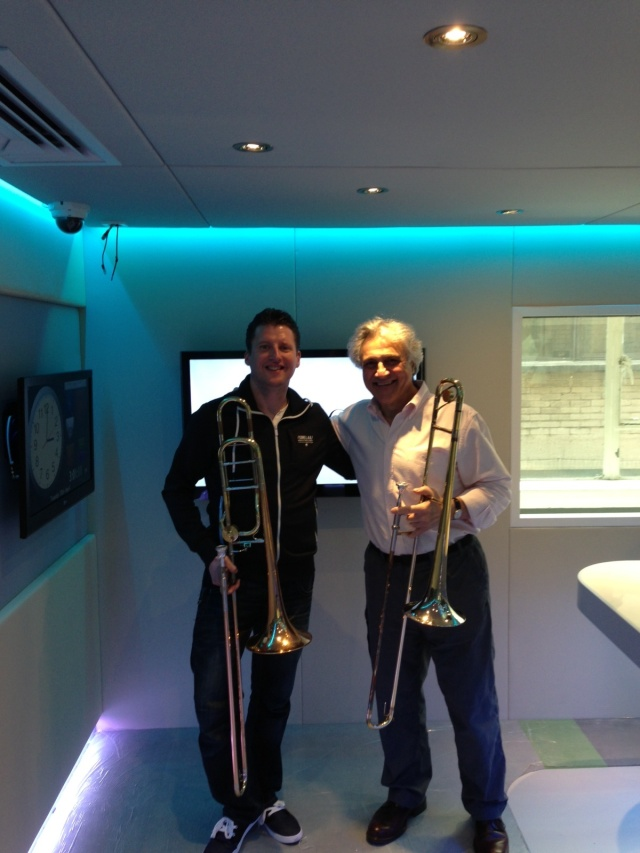 Simon Cowen & John Suchet at the Royal Northern College of Music