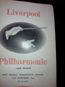 The first concert programme to feature ALAN STRINGER