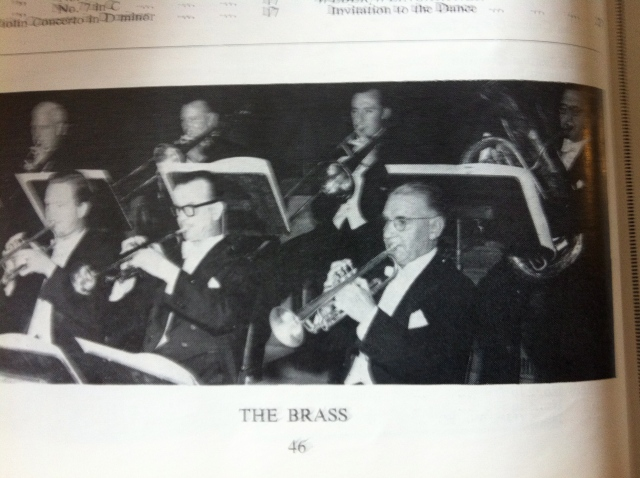 RLPO Trumpets 1955 - Alan Stringer, Handel Hone and John Underwood