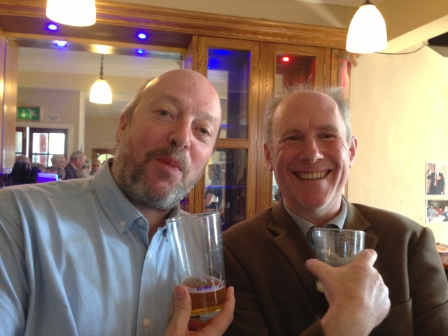 BBC Philharmonic Principal Percussion Rob Lea and former BBC Philharmonic Principal Trumpet Patrick 'Paddy' Addinall