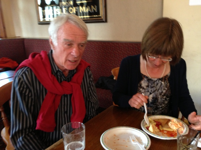 Former RLPO Principal Timpanist, The Dean of Percussive Arts himself, Ian Wright with top percussionist Jenny Marsden