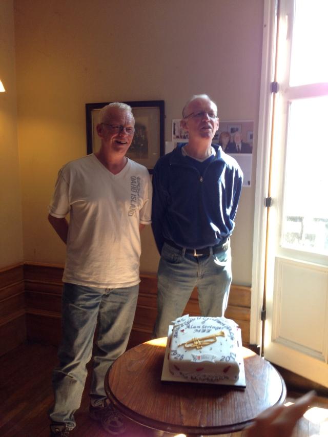 Alan's proud sons - Malcolm & Jim Stringer