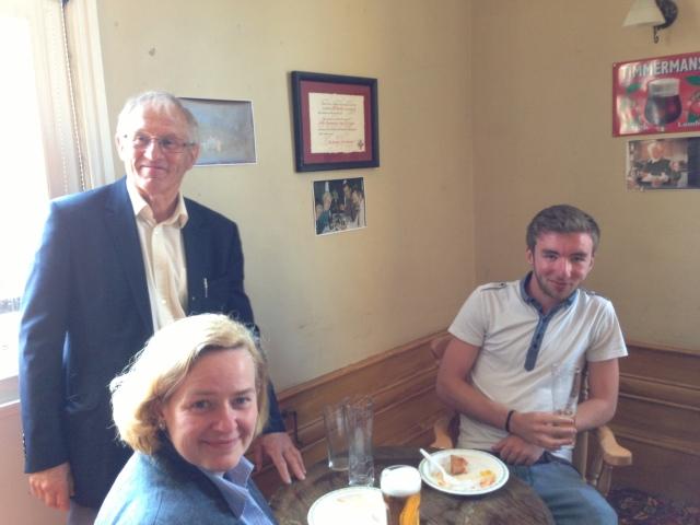 The great John Dickinson, brass teacher extraordinaire Julie Baker and John W. Worthington Esq.