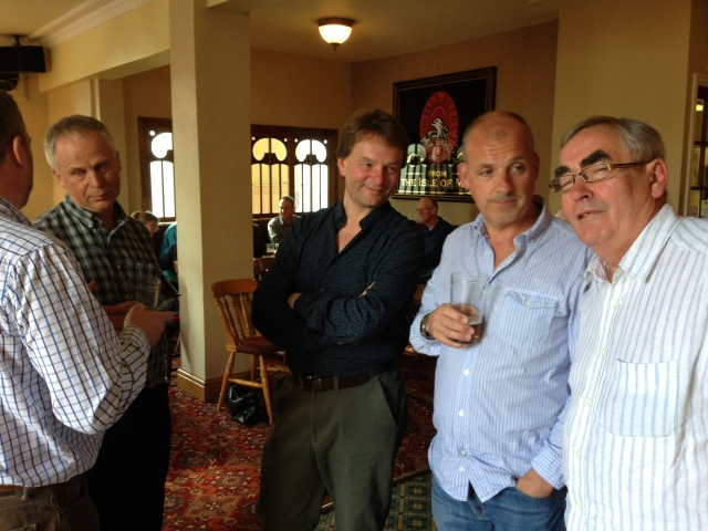 Murray Grieg (back to us), RLPO 2nd trumpet Paul Marsden, Head of Brass Chetham's School of Music Dave Chatterton, Rhys Owens and RLPO Bass Danny Hammerton