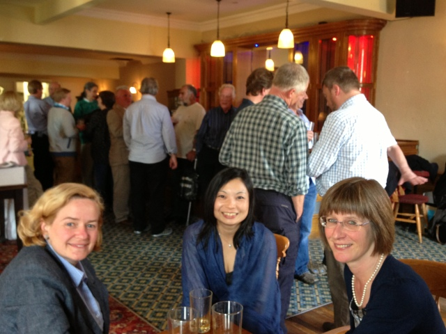 Julie Baker, Satoko Toko Tanigawa & Jenny Marsden - all sorts of folk in the background!