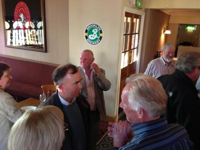 Pauline & Stuart Hastain, Linda & John Langford, John Hardy, Mike Ogonovsky, & the back of Ian Balmain's head!