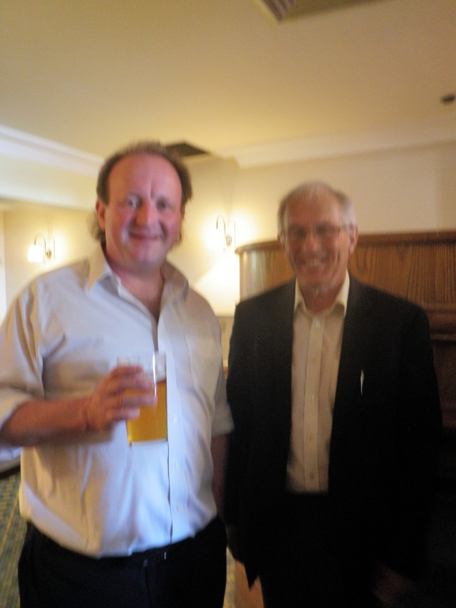 The amazing trumpeter  and pedagog John Dickinson and myself. John has been desperately trying to set me a good example since  ever since my school days. What a great mentor.