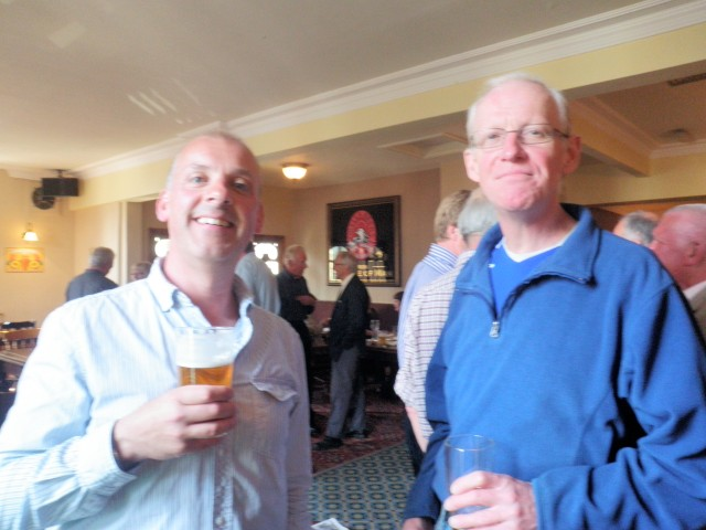 Current RLPO Principal Trumpet Rhys Owens with Malcolm Stringer