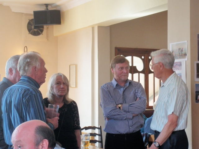 The top of Rob Lea's head,  Stuart Hastain, Martin Taggart, Juliet Taggart, John Hebbron and Eric Jennings