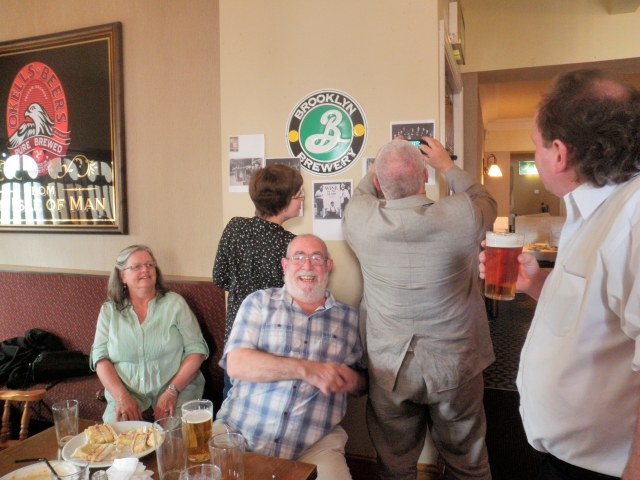 Me with another pint! Blyth laughing his head off as usual...