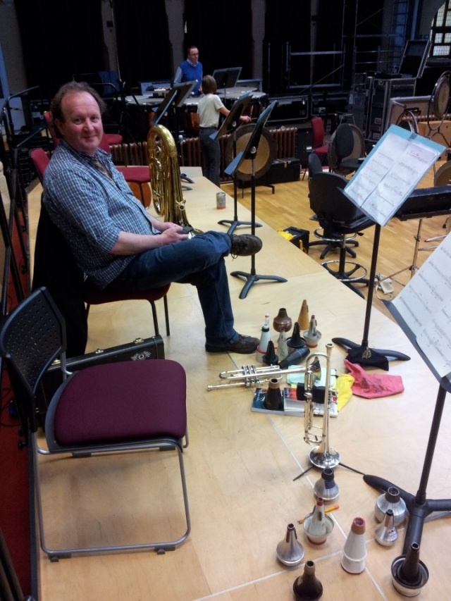 Brendan in the RLPO recording facility, The Friary,' with a lot of mutes!