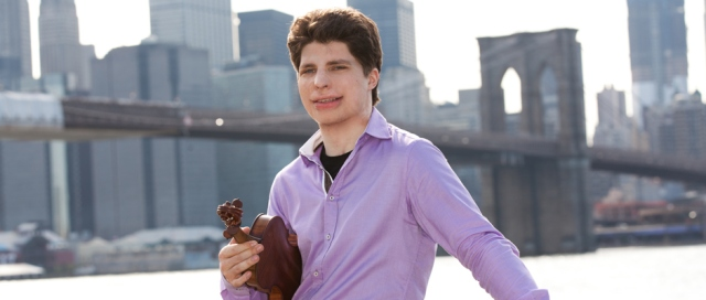 Augustin Hadelich with his Stradivarius