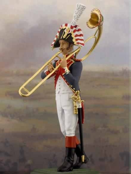 One of the terrifying trombonists Napoleon used to have marching into battle with him...