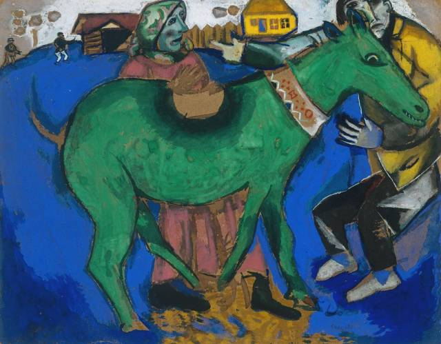 The Green Donkey 1911 Marc Chagall 1887-1985