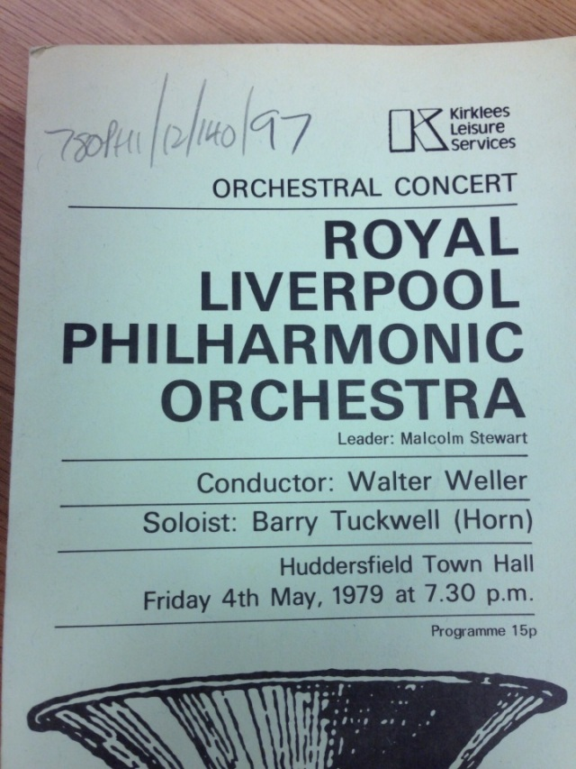 A Brass-stle bell on this concert programme to set the mood for Barry Tuckwell appearing as soloist with the RLPO
