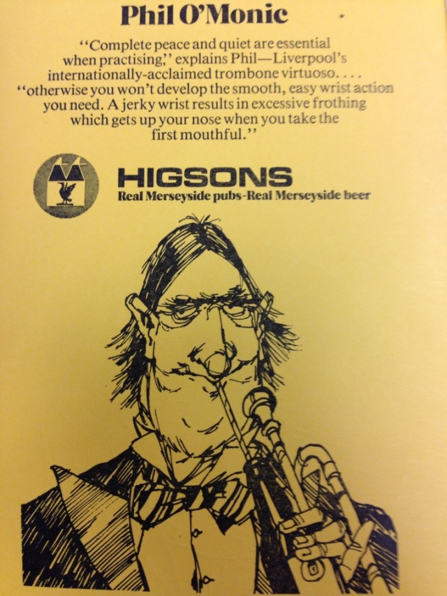 I wouldn't like to say who this advert for Higsons Beer was modelled on!