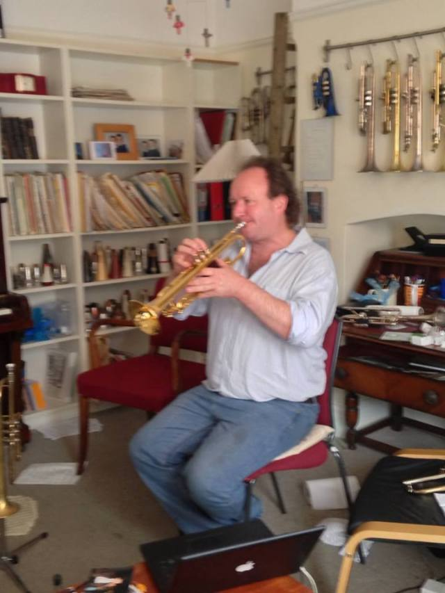 Here's me on Aneel's exclusive range of Schagerl Nodus Trumpets. They're fantastic! I want one...