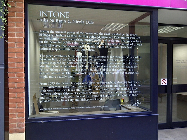INTONE - a multi media Installation by Nicola Dale & Ailis Ni Riain as part of the Durham International Festival