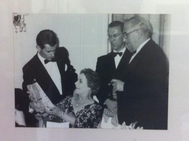 David Mason & Philip Jones at Ernest Hall's retirement celebrations.