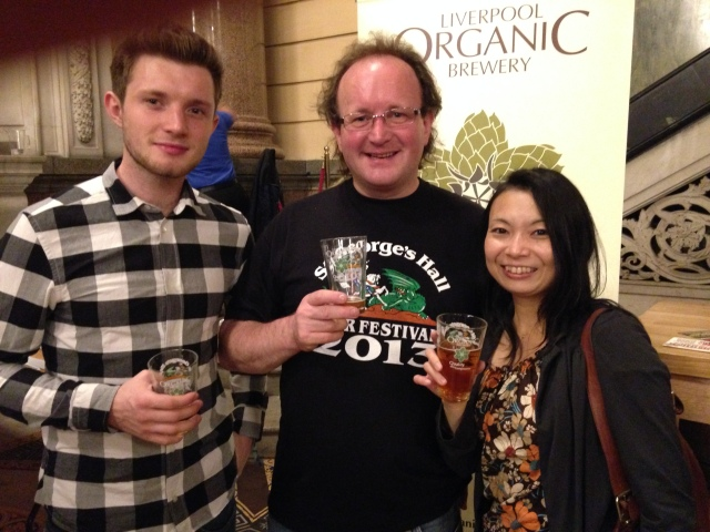 Jonnie, Toko & me at me towards the end of the Saturday night session of the Liverpool St George's Hall Beer Festival