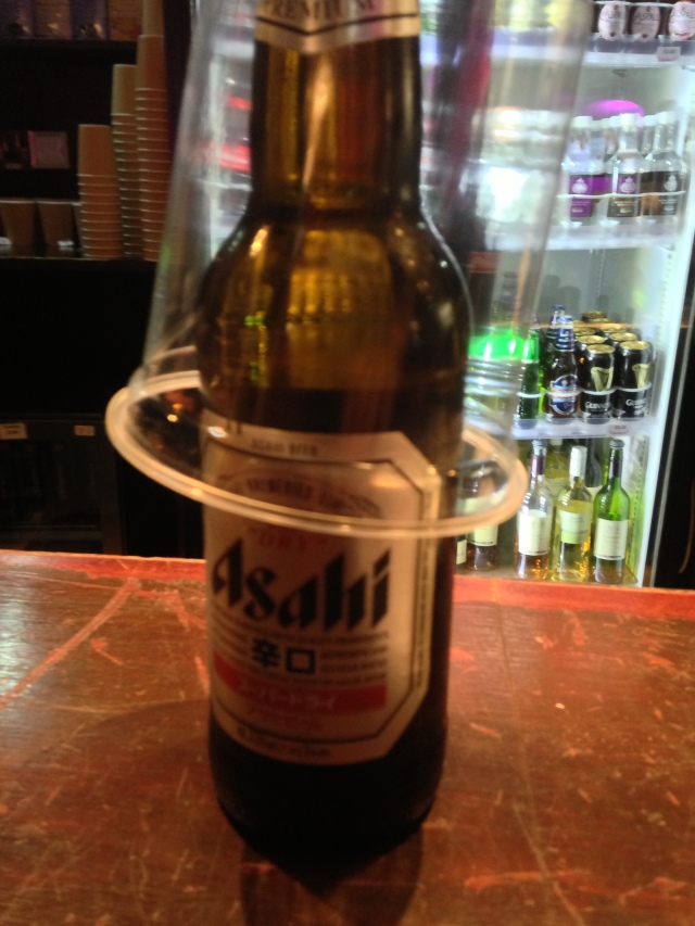 Japanese Asahi Beer for sale in the Royal Albert Hall