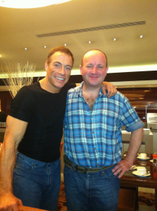 Jean-Claude Van Damme and I. This time it's personal!