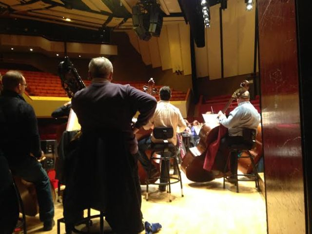 The RLPO bass section hard at work! - The Hexagon - Reading