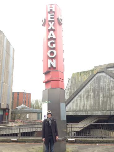 RLPO Principal Second Trombone Simon Powell outside The Hexagon - Reading