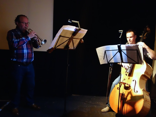 Geth & Myself rehearsing last Saturday at The Horse Hospital in London