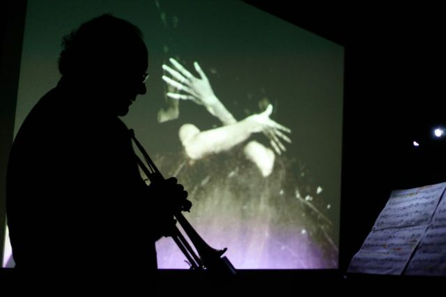 The performance at Delia Derbyshire Day 2014 at Anthony Burgess Foundation