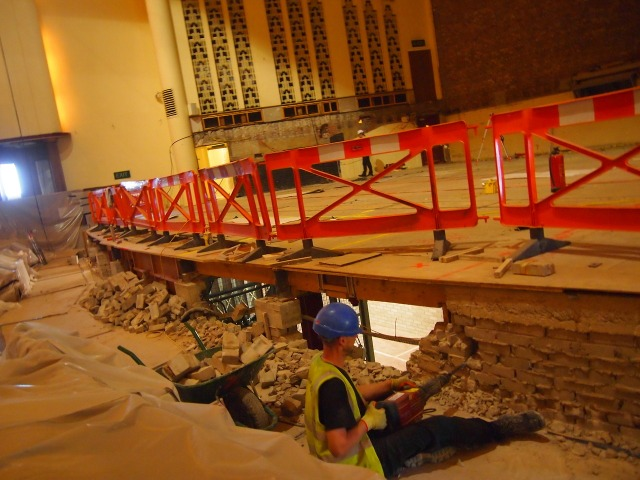 Work on the refurbishment of the new hall is continuing apace