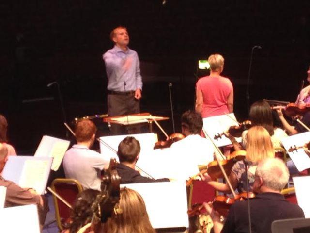Vasily Petrenko rehearsing RLPO with Inger Dam Jensen
