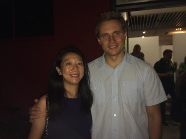 Karen Chan with Vasily Petrenko in Shenzen, after the concert
