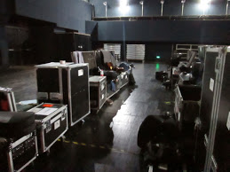 Part of the huge backstage area in Suzhou